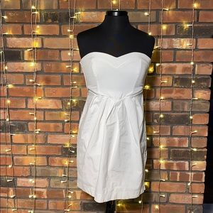 City Studio White Strapless Dress with Zippers